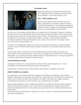 Psychedelic Lemon Banda española de rock creada el 22 de Enero