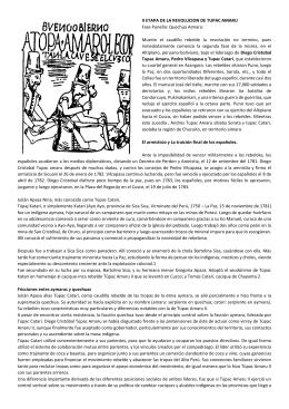 II ETAPA DE LA REVOLUCION DE TUPAC AMARU Fase Puneña