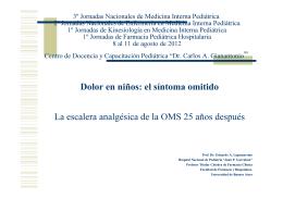 Escalera analgésica de la OMS 25 años después. Dr. Eduardo