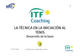 La tecnica del tenis