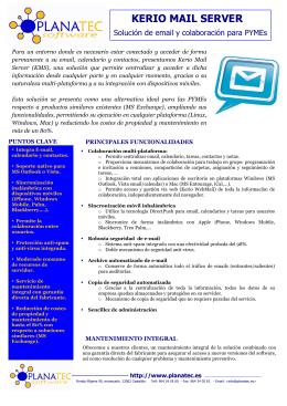 Kerio Mail Server: Solución de email y