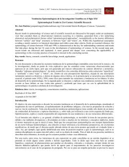 Tendencias epistemológicas de la investigación científica en el