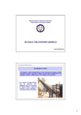 bandas transportadoras - OCW - Universidad Carlos III de Madrid