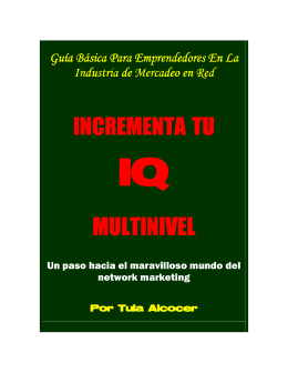 incrementa tu multinivel - Escuela de Empresarios Multinivel Exitosos