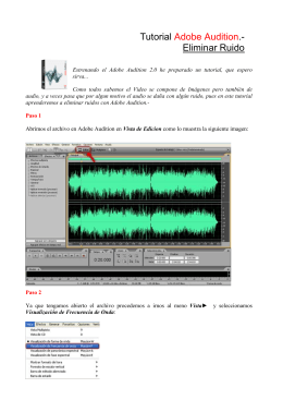 Tutorial Adobe Audition.- Eliminar Ruido