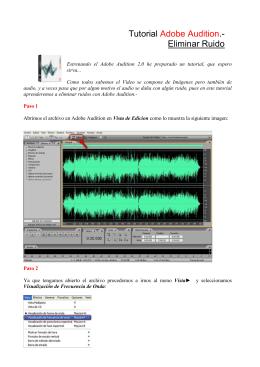Tutorial Adobe Audition.- Eliminar Ruido