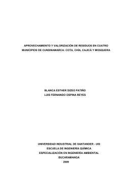 aprovechamiento y valorización de residuos en cuatro municipios