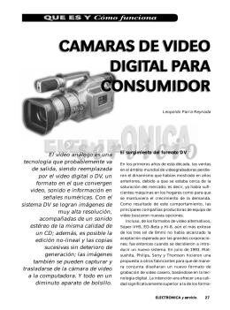 VIDEOCAMARAS.- Articulo de la revista Electronica y