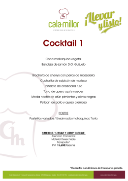 Cocktail 1 - cala