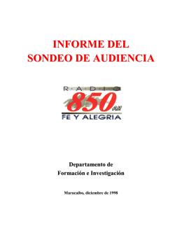Sondeo de Audiencia 1998 - Federación Internacional de Fe y Alegría