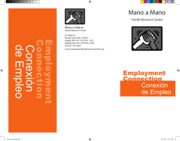Folleto: Conexión de Empleo - Mano a Mano Family Resource Center