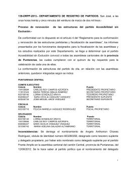 139-DRPP-2013. - Tribunal Supremo de Elecciones