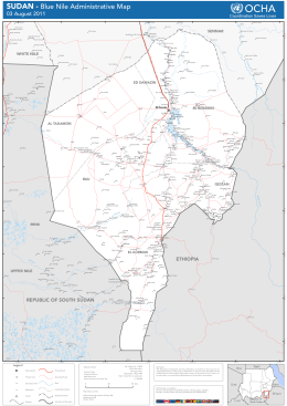 SUDAN - Blue Nile Administrative Map