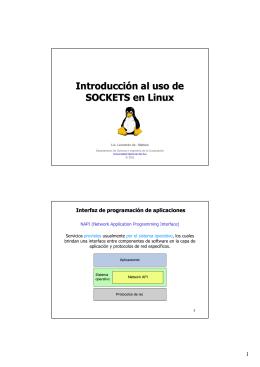 Introducción al uso de SOCKETS en Linux