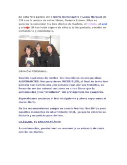 DIARIO VIOLETA DE CARLOTA
