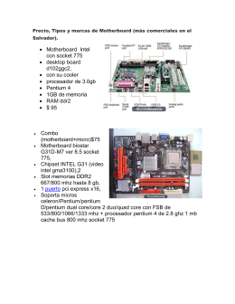 • Motherboard Intel con socket 775 • desktop board d102ggc2, • con