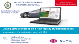 Driving Simulator based on a High Fidelity Multiphysics Model