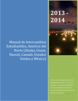 Manual de Intercambios Estudiantiles, Amrica del Norte (Alaska