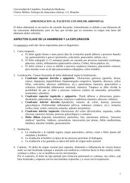 DOLOR TORACICO - OCW Universidad de Cantabria