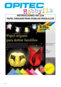 instrucciones 487.226 papel origami para doblar farolillos