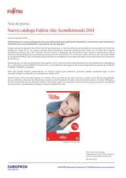 Nuevo catálogo Fujitsu Aire Acondicionado 2014