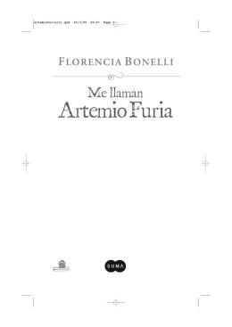 Primeras Páginas de Me llaman Artemio Furia