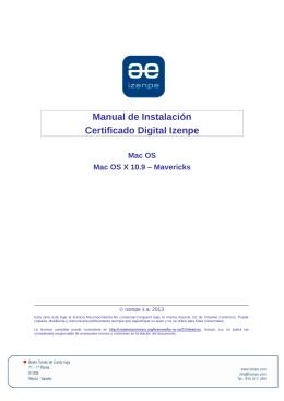 Guia de instalación de Certificado Digital IZENPE para Mac OS