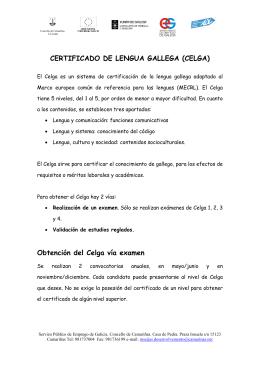certificado de lengua gallega (celga)