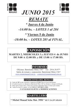 JUNIO 2015 - Rematadores.com