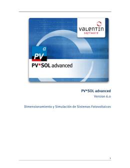 PV*SOL advanced - Manual