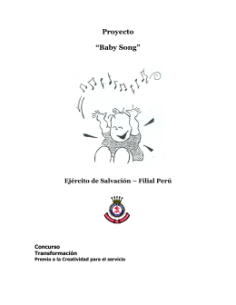 "Proyecto ""Baby Song"""