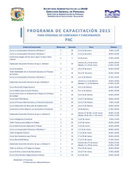 PARA PERSONAL DE CONFIANZA Y FUNCIONARIOS