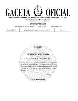 Gaceta Oficial - Gobierno del Estado de Veracruz