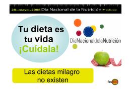 Tu dieta es tu vida ¡Cuídala! - E