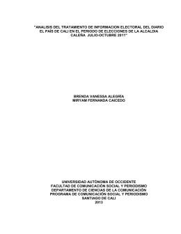 analisis del tratamiento de informacion electoral del diario el país de