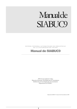 Manual de SIABUC9 - Universidad de Colima