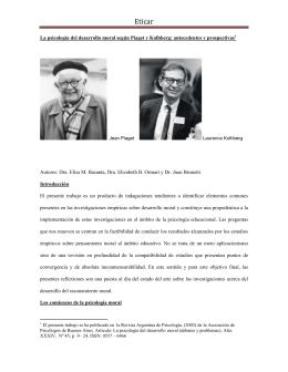La psicología del desarrollo moral según Piaget y Kolhberg