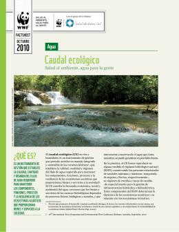 Caudal ecológico - Reservas de Agua