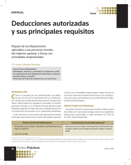 Deducciones autorizadas y sus principales requisitos