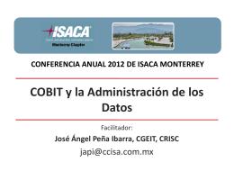 COBIT y la Administración de los Datos
