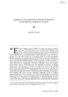 American and Argentine Literary Traditions in the