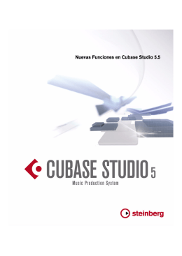 Nuevas Funciones en Cubase Studio 5.5