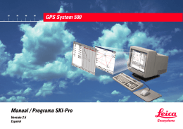 GPS System 500 Manual / Programa SKI-Pro
