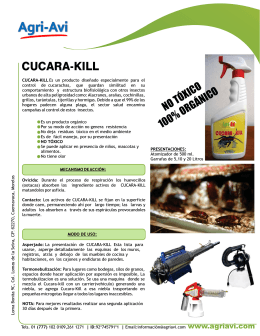 CUCARA-KILL - QuimiNet.com