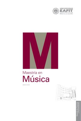 Música - Universidad EAFIT
