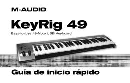 Guía de inicio rápido | KeyRig 49 - M