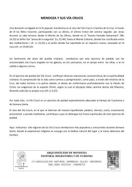 Via Crucis en Mendoza - Arquidiócesis de Mendoza