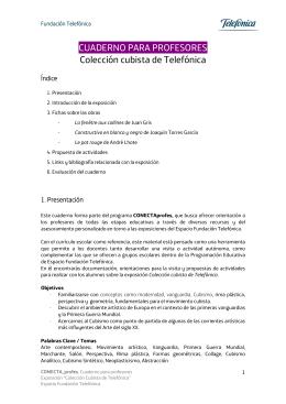 CUADERNO PARA PROFESORES Colección cubista de Telefónica