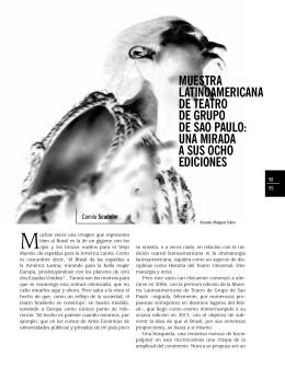 Muestra LatinoaMericana de teatro de Grupo de sao pauLo: una