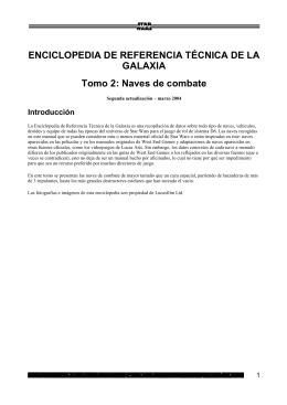 ENCICLOPEDIA DE REFERENCIA TÉCNICA DE LA GALAXIA